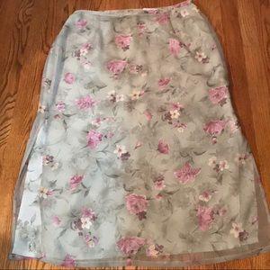 Beautiful Floral Maxi Length Skirt Size 16 🌸💐